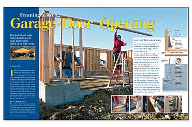 framing a strong garage door opening