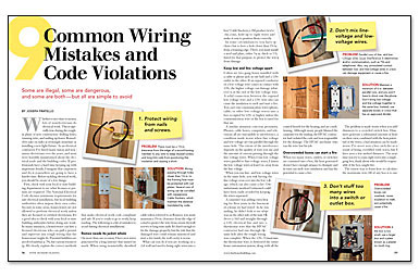 9 common wiring mistakes and code violations