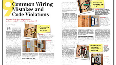 9 Common Wiring Mistakes and Code Violations - Fine Homebuilding on control wiring diagram, building wiring diagram, motor wiring diagram, package wiring diagram, pin wiring diagram, harness wiring diagram, module wiring diagram, power wiring diagram, door wiring diagram, cam wiring diagram, case wiring diagram, box wiring diagram, valve wiring diagram, bulb wiring diagram, outlet wiring diagram, electrical wiring diagram, lighting wiring diagram, plug wiring diagram, breaker wiring diagram, key wiring diagram,