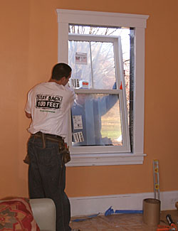 Replacement window installation