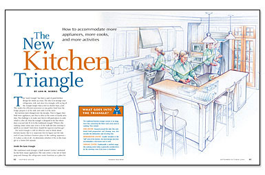 Kitchen Triangle the new kitchen triangle - fine homebuilding
