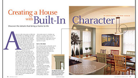Creating A House With Built In Character