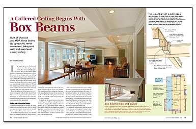 How to build a coffered ceiling with box beams fine for Average cost of coffered ceiling