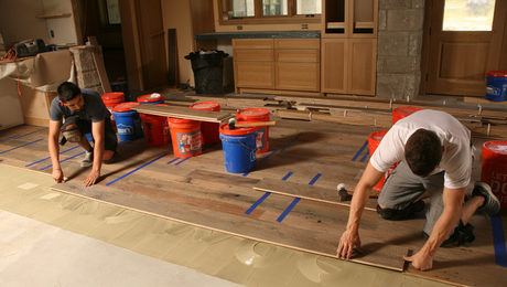 Master Carpenter Wood Floors On A Concrete Slab Fine