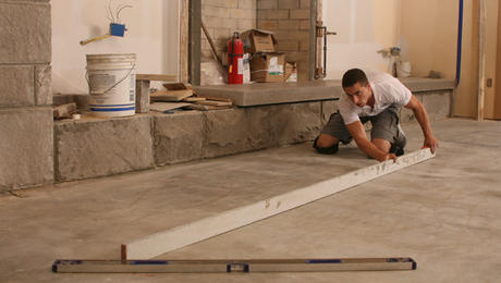how to build a raised floor over concrete