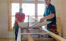 Sizing and assembling wainscot panels