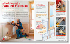 A Simple Approach to Paneled Wainscot