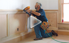 Wainscot cap and two-piece baseboard molding