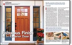 inishing an exterior door
