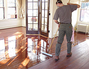 Applying Polyurethane To Hardwood Floors i did not want to applying oil based sealer Applying Finish To A Wood Floor Is The Final Step In A Long Process The Application Tools You Use Can Either Highlight Your Efforts Or Spoil Them