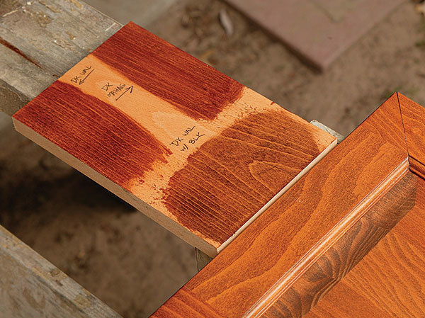 Matching a finish fine homebuilding for Best deck paint for old wood