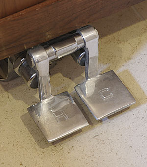foot pedal powered faucet fine homebuilding single handle foot pedal valve faucet kitchen bathroom