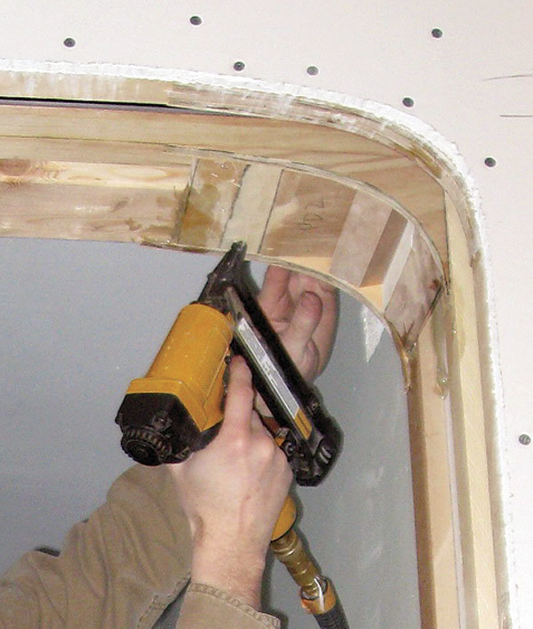 To Make The Drywall Conform To The Curve, Score The Back Of Each Piece Of  1/4 In. Drywall On Graduated Intervals So That The ...