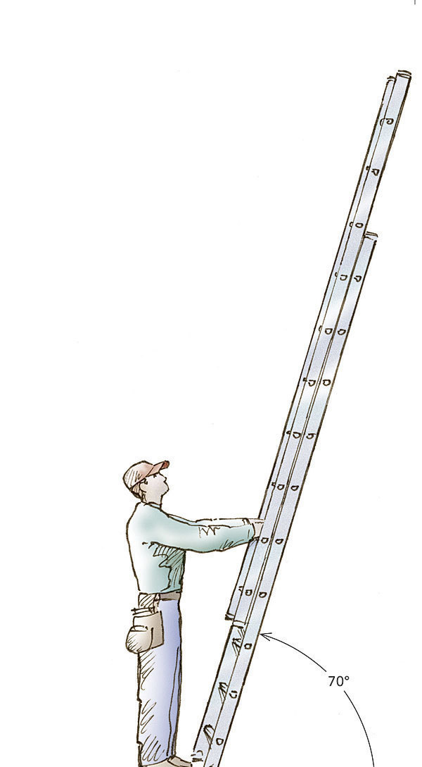Using Extension Ladders Safely Fine Homebuilding