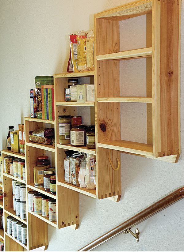 Image Result For Stair Step Pantry Shelves