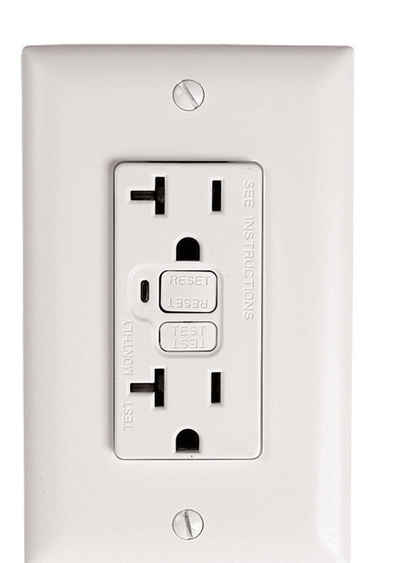 Whats the difference ground fault circuit interrupters gfci oftentimes a gfci receptacle makes much more sense than a breaker if you need gfci protection for only one receptacle say a new outlet on your porch sciox Images