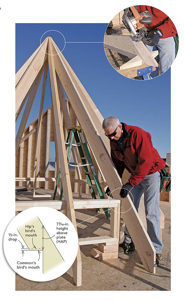 framing an octagonal turret roof finehomebuilding