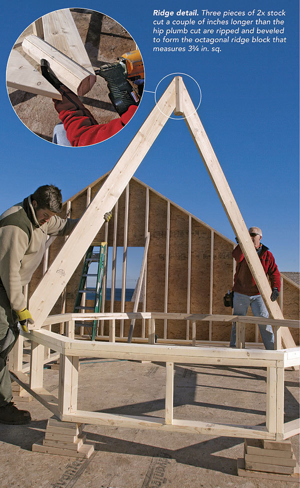 Framing An Octagonal Turret Roof Fine Homebuilding