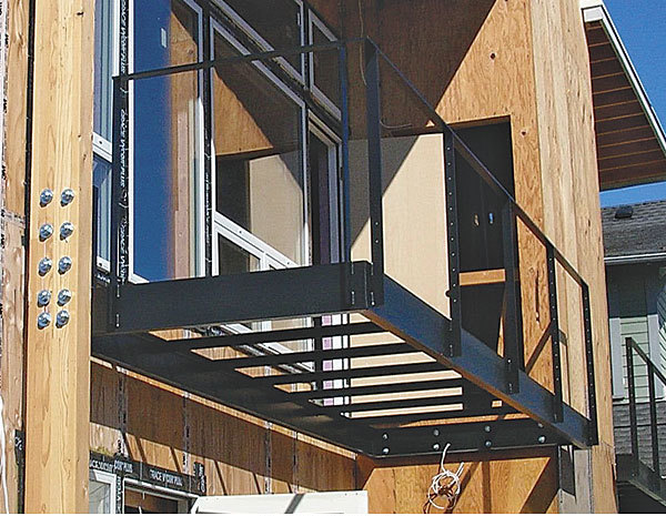 Building a cantilevered balcony joy studio design for How to build a 2nd story floor