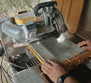 Cutting Ceramic Tile With A Tile Saw Fine Homebuilding