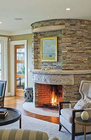 All-Around Warmth: Fireplace Design