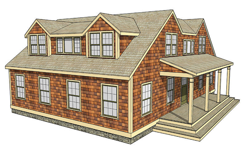 Making shed dormers work fine homebuilding for Shed dormer house plans