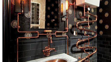 A Loo Fit For Doctor Who Steampunk Bathroom Fine Homebuilding