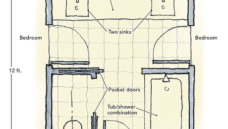 Pleasing 80 bathroom floor plans jack jill inspiration of for Home plans with jack and jill bathroom