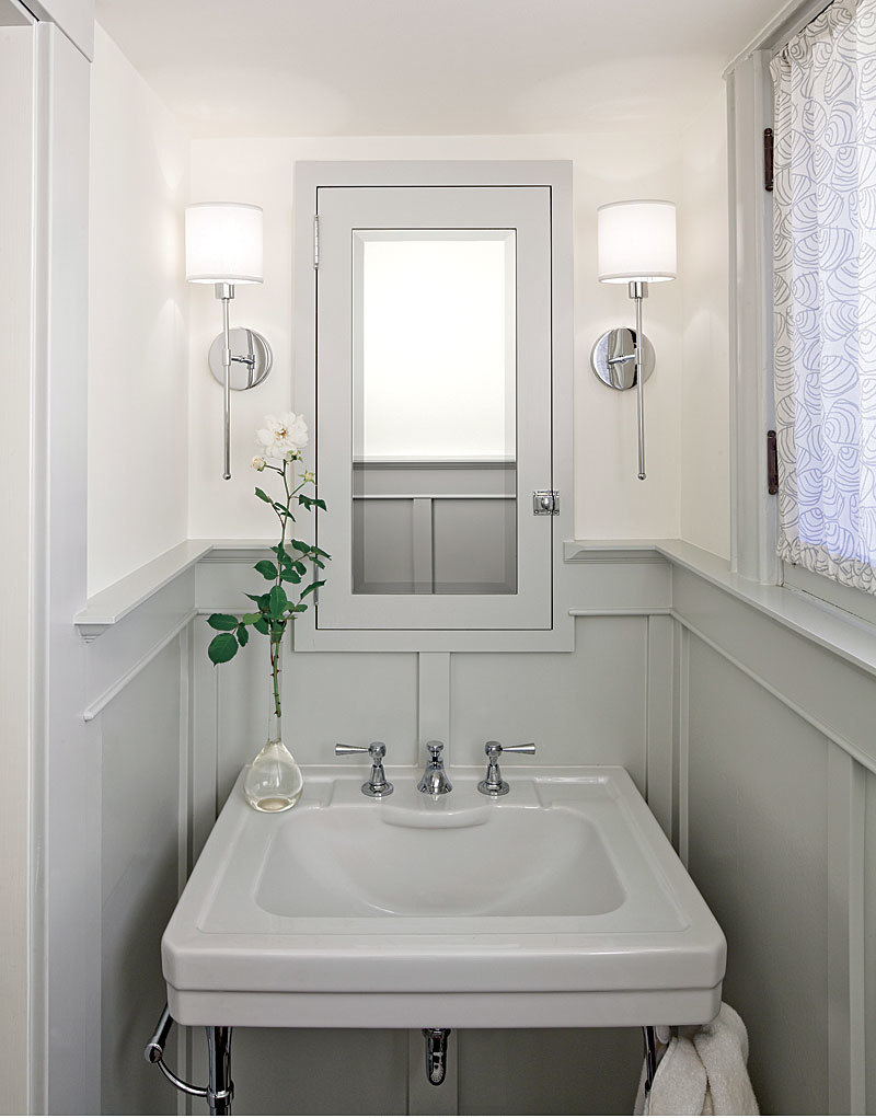 Small powder rooms fine homebuilding for Powder room vanities for small spaces