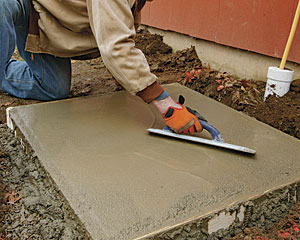 Placing A Small Concrete Slab Fine Homebuilding