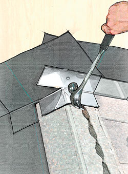 how to cut roof flashing