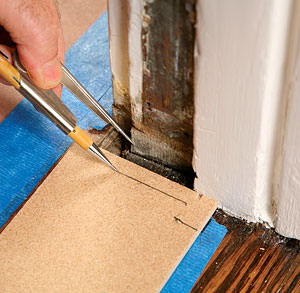 Make the template first & Replacing a Door Threshold - Fine Homebuilding Pezcame.Com