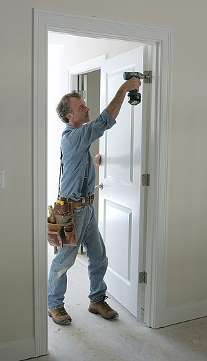 Easy adjustments to screws mortises and hinges on interior doors contribute to a perfect fit : fit door - Pezcame.Com
