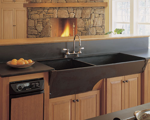 Oversized Sinks Kitchen : ... large bowls with two different depths with such a large sink careful