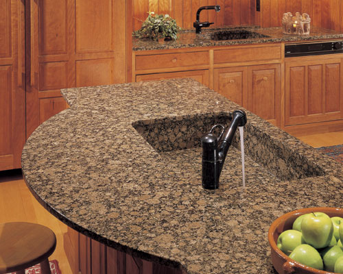 Integrated sinks  in which the sink is made of the same material as the  countertops  offer a sleek look and are an ideal mate to solid surface  countertops. A Gallery of Kitchen Sinks