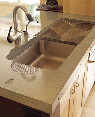 Kitchen sinks with drainboard built in wow blog for Stainless steel countertop with built in sink