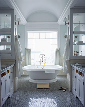 Creating A Large Bathroom Opens The Door To A Number Of Design Options Including The Addition Of A Large Soaking Tub Or Walk In Shower That Wouldn T Be