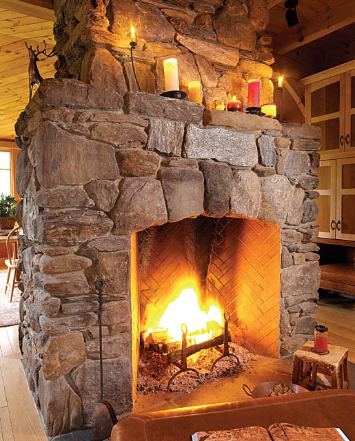 A gallery of unique fireplaces fine homebuilding for Kiva fireplaces