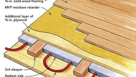 maple flooring over radiant heat - Radiant Floor Heating