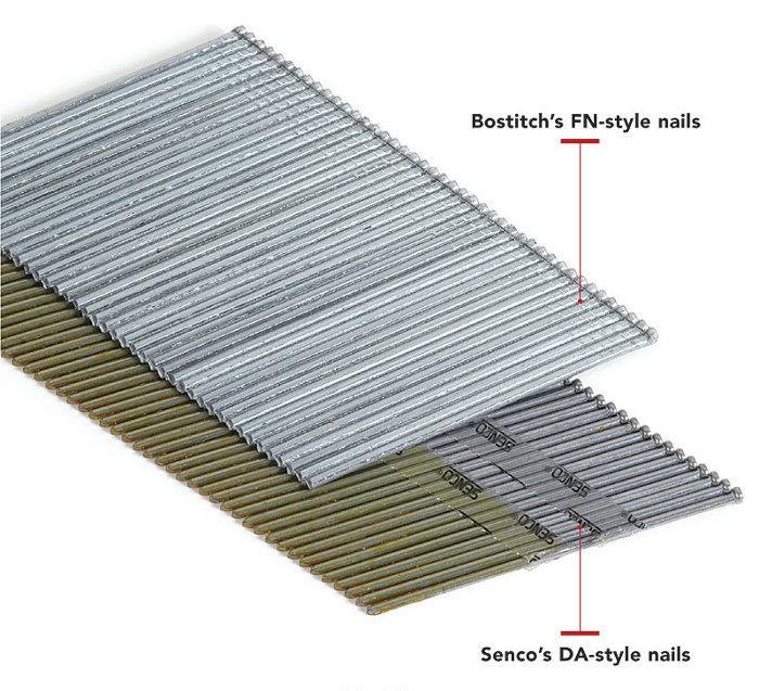Finishing Nail Size For Trim : Da vs fn finish nails fine homebuilding