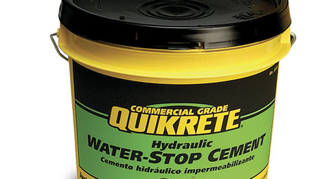 Quikrete Hydraulic Water-Stop Cement, $17 per 20-lb. pail