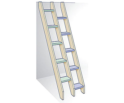 Good Alternating Tread Ladder Stairs