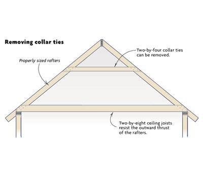 removing collar ties homebuilding
