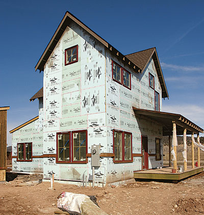 Foam sheathing inside or out fine homebuilding for Exterior wall sheeting