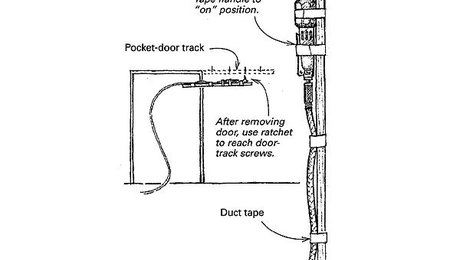 replacing a pocketdoor track