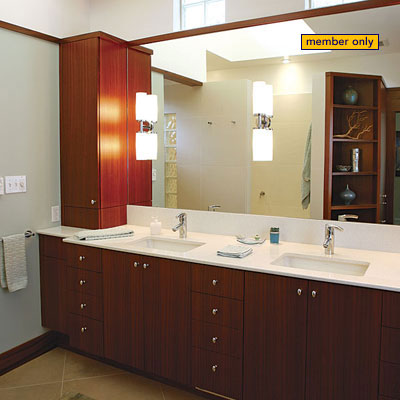 12 remodeling secrets fine homebuilding for Bathroom redesign app
