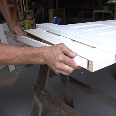 how to take apart a door