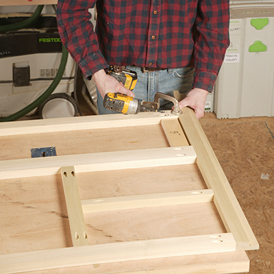 To establish the location of the bottom rail  cut a spacer block from a  scrap of plywood. How to Build Your Own Bathroom Vanity