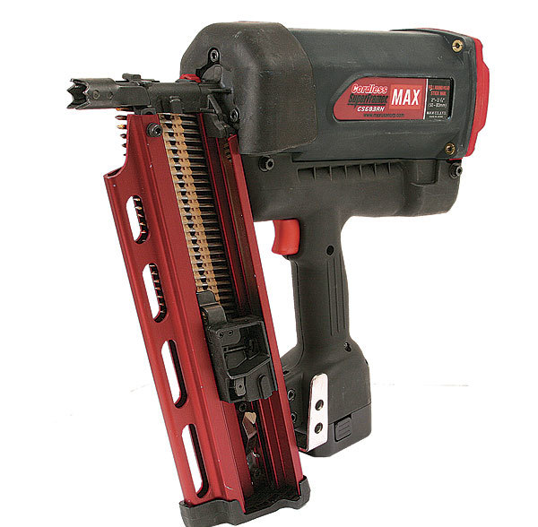 this nailer has several redeeming features the depth of drive adjustment was fast and easy required no tools and worked well within the models power - Electric Framing Nailer