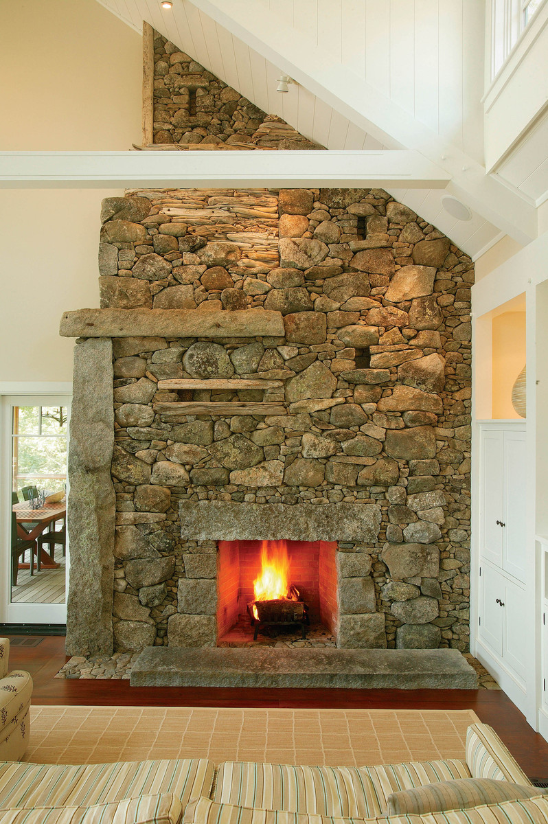 Cool fireplace built by mason Lew French